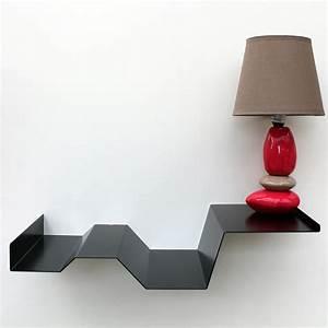 Table De Chevet Suspendue : table de chevet suspendue noire chevet mural design objectal ~ Teatrodelosmanantiales.com Idées de Décoration