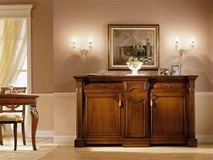 Credenza classica di lusso, in legno massello, per