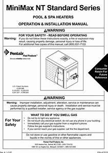 Pentair Minimax Nt Standard Series Users Manual 472032