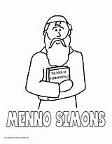 Coloring Pages Simon Simple History Menno Volume Simons Popular sketch template