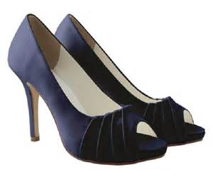 navy wedding shoes navy satin peep toe occasion shoes wedding shoes by perdita 39 s