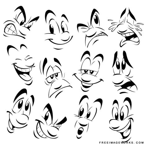 vector cartoon emotions agitate angry caricature