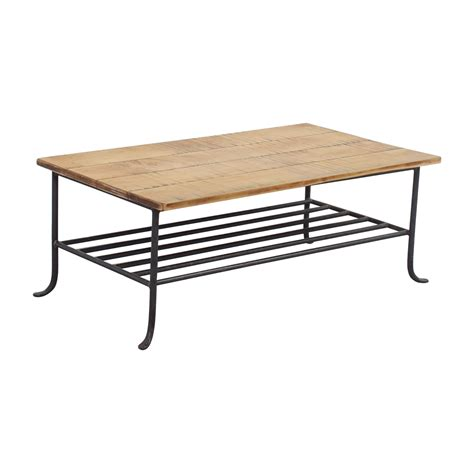 rustic wrought iron table ls 56 off rustic wrought iron and wood coffee table tables