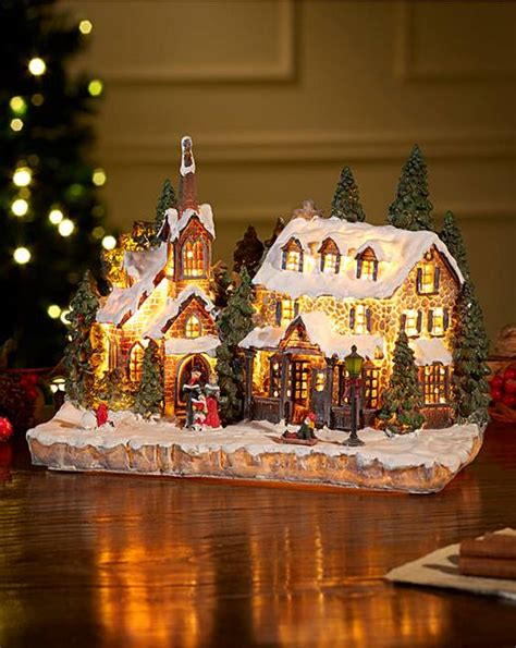 christmas house scenes light up j d williams