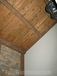 ceiling wood panels 6 Places Enriched with Rustic Wood | Faux Wood Workshop