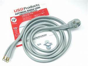 Range Electric Power Cord 3 Prong Wire 50 Amp 10 U0026 39  Foot