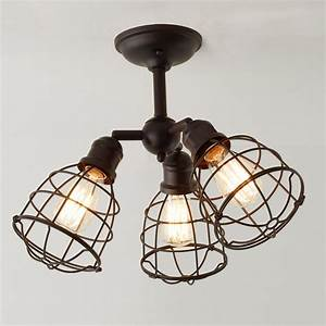 Wire Cage Adjustable Ceiling Light - 3 Light
