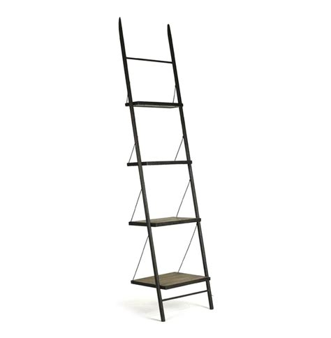 Industrial Bookcase With Ladder by Martina Industrial Loft Reclaimed Wood Ladder Bookcase