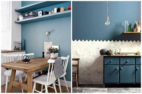 mur cuisine bleu best cuisine blanche mur bleu canard images