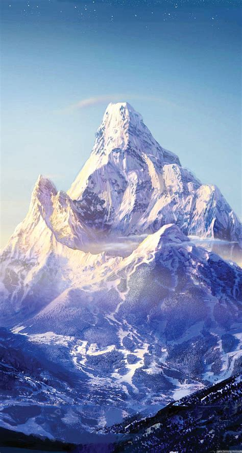 everest mountain snow stars  iphone wallpapers