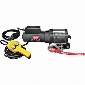 Warn 120 Volt Ac Powered Electric Utility Winch  U2014 1000