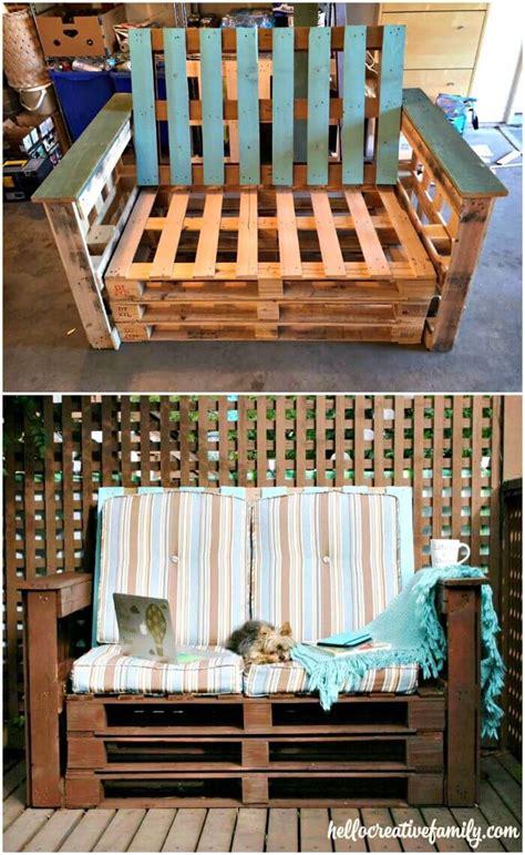 diy outdoor furniture made from pallets pallet sofa 21 diy pallet sofa plans diy crafts 45691