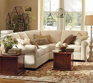 Homeofficedecoration small sectional sofa pottery barn for Small sectional sofa pottery barn