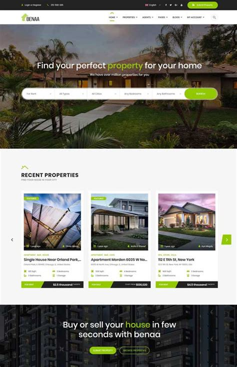 Free Real Estate Themes 50 Best Real Estate Themes Free Premium