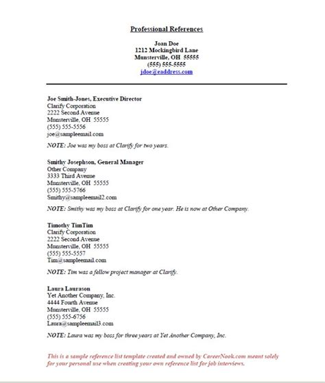 How To List References On A Resume by References Sle How To Create A Reference List Sheet