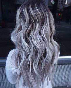 100% European Real Human Hair Wigs Long Ombre Grey Lace ...