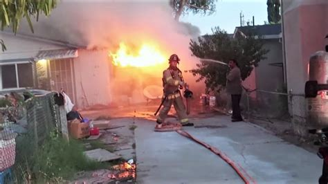 early video california house fire statter