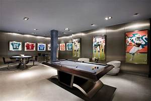 sports bar family room transitional with sub-zero