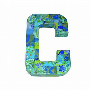 paper mache letter c 203cm decopatch and paper mache With paper mache cardboard letters