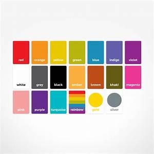 Educational Colour Flash Cards By The Jam Tart  Play  U0026 Learn