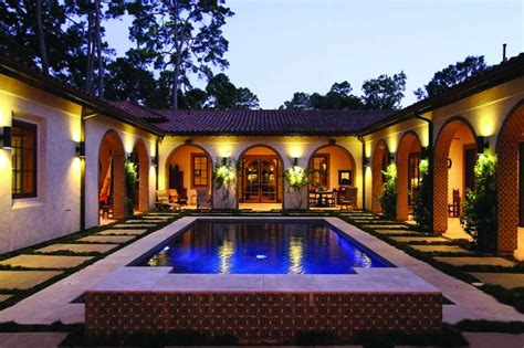 spanish colonial courtyard house plans home building plans