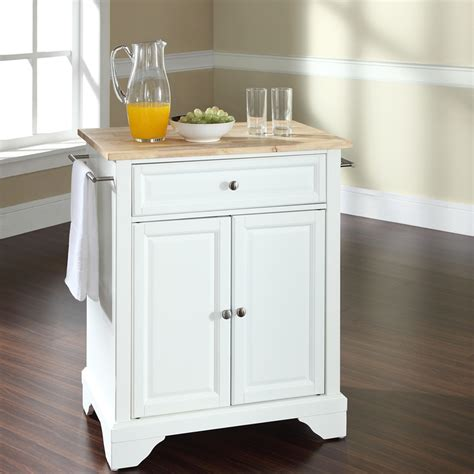 white portable kitchen island lafayette kitchen island wood top portable 1453