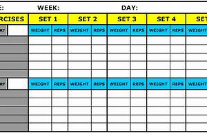excel workout log template 8 best workout log templates for excel and word