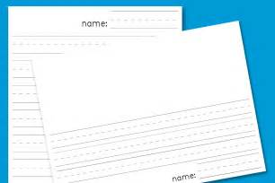 Printable Lined Writing Paper Template Kindergarten