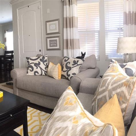 Yellow Grey Living Room Images by Pin By Esch On Redo Corate Living Room