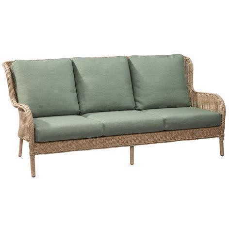 home depot sofa hton bay lemon grove wicker outdoor sofa with surplus