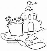 Coloring Sandcastle Printable Sheets Drawing Sand Outline sketch template