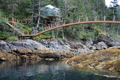 orca island cabins footbridge and stellar cabin picture of orca island