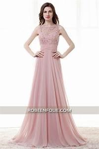 jolie robe de soiree longue en rose bustier brode avec With les robes de soirée chic