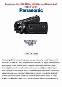 Panasonic Hc X900 X900m X909 Service Manual A By