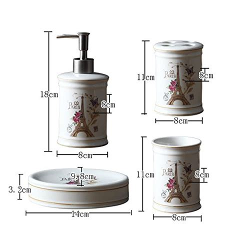 eiffel tower bathroom accessories brandream luxury eiffel tower bathroom accessories 5