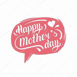 Happy Mother's Day in speech bubble. — Stock Vector ...