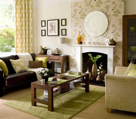 accent wall  modern living room design ideas real simple