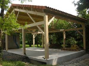 Abris De Jardin Ouvert En Bois by Galerie Photos Des R 233 Alisations De Cgm Ossature Bois