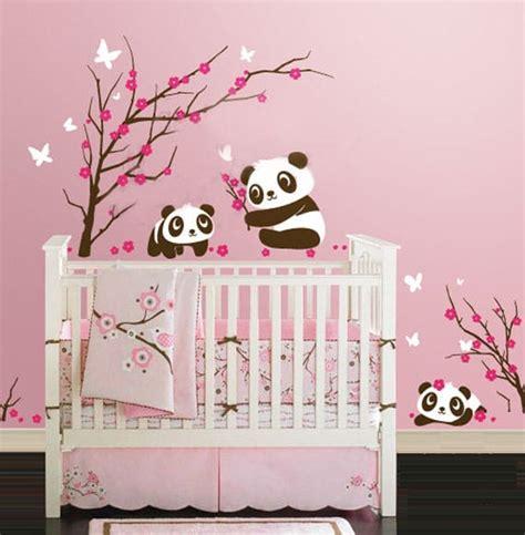 chambre panda les stickers géant animent les chambres d 39 enfants