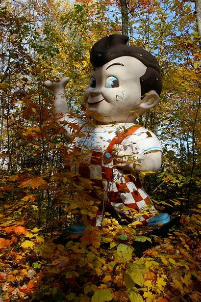 Boy Graveyard Michigan Abandoned Upper Statue Bear