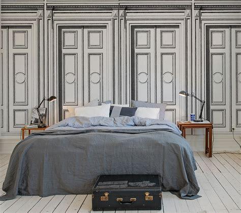 taille meuble cuisine papier peint trompe l oeil bois 3 papiers peints