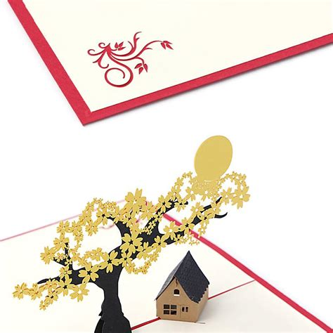 2020 3D Pop UP Holiday Greeting Cards Cherry Tree House