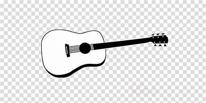 Guitar Acoustic Drawing Microphone Transparent Clipart