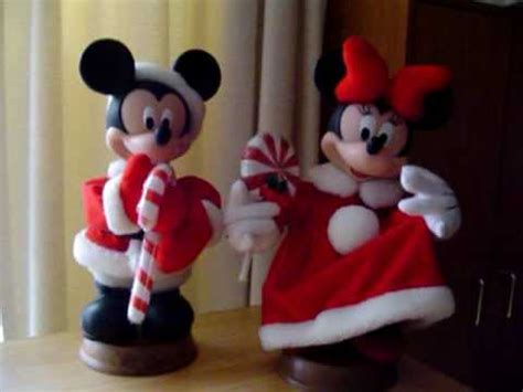 disney mickey minnie mouse animated christmas figures