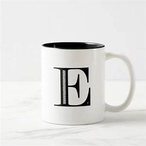 damask letter e black two tone coffee mug zazzle With letter e mug
