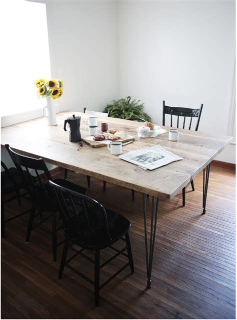 diy dining table   crowd  reclaimed wood