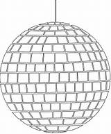 Disco Ball Silhouettes Coloring Outline Silhouette Pages Vector Drawing Svg Paper sketch template