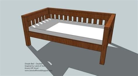 ana white build  simple daybed   easy diy project  furniture plans   home