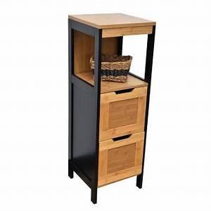 Bambou Noir Prix : meuble bas de salle de bain en bambou noir et bois achat prix fnac ~ Teatrodelosmanantiales.com Idées de Décoration