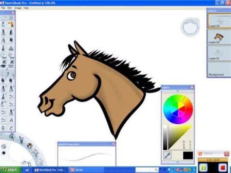 draw  cartoon horse   bridle digital